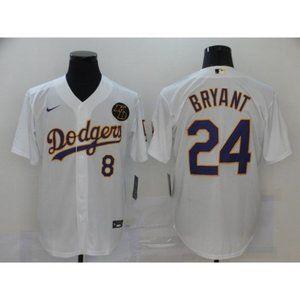 LA Dodgers Kobe Bryant White Jersey
